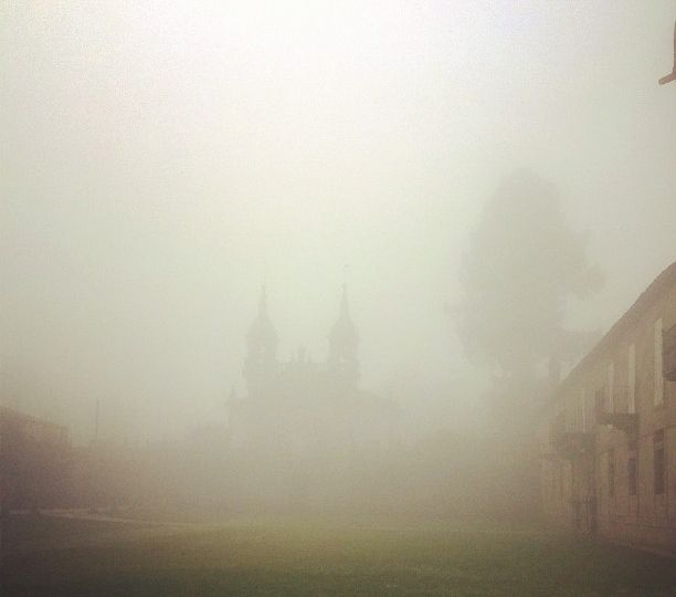 Pazo de Oca with fogs surrounding