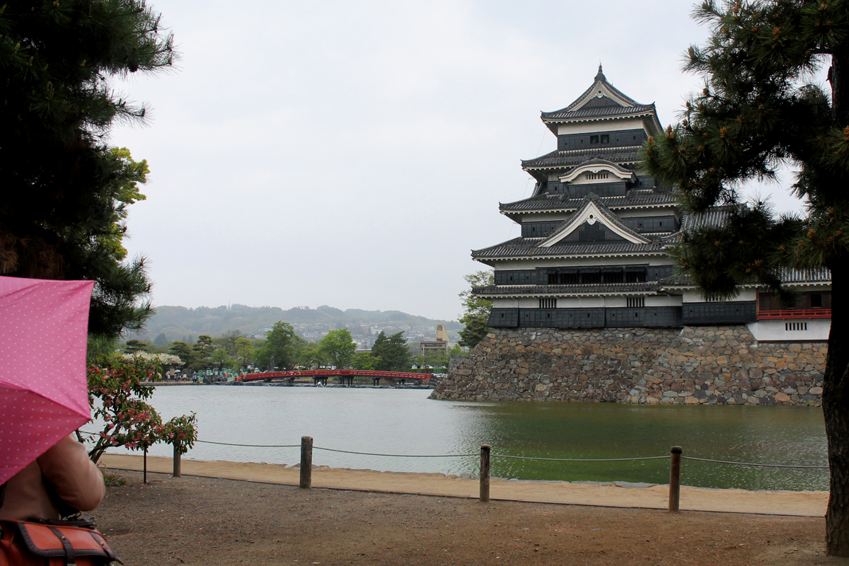 Matsumoto Castle under the rain