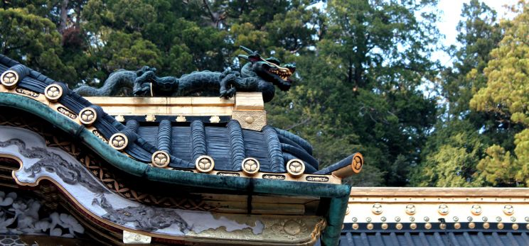 Dragons in the ceiling, Toshogu Shinto Shrine, NIkko Japan