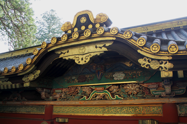 Nikko Toshogu Shrine roof decoration