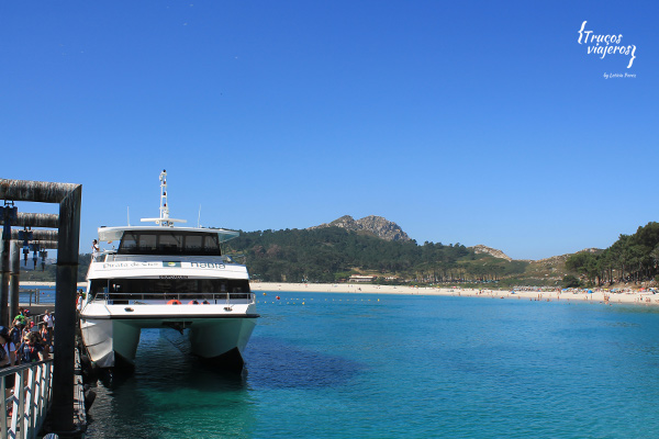 Boat to Cies Islands in Galicia