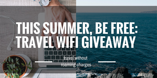 travel wifi giveaway no roaming charges