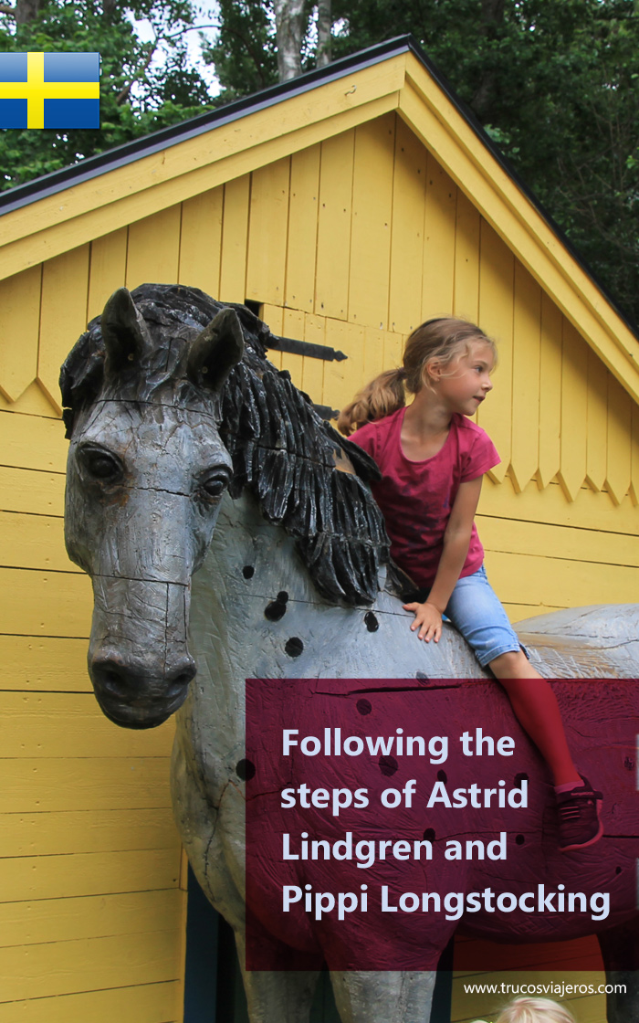 Having fun in Smaland, Sweden, with the stories of Astrid Lindgren.