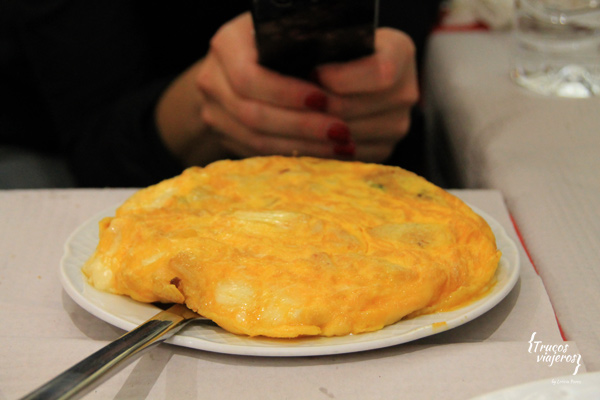Tortilla de patata y queso gallego
