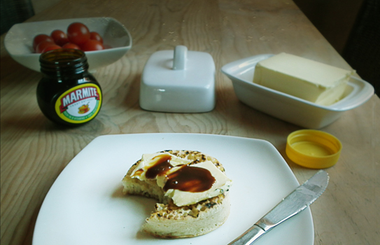 marmite scone by caroline via flickr
