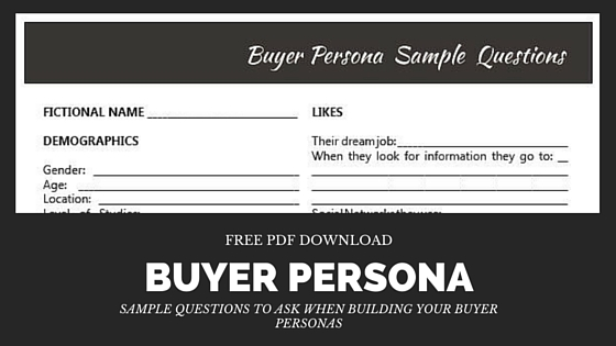 buyer persona profile builder link