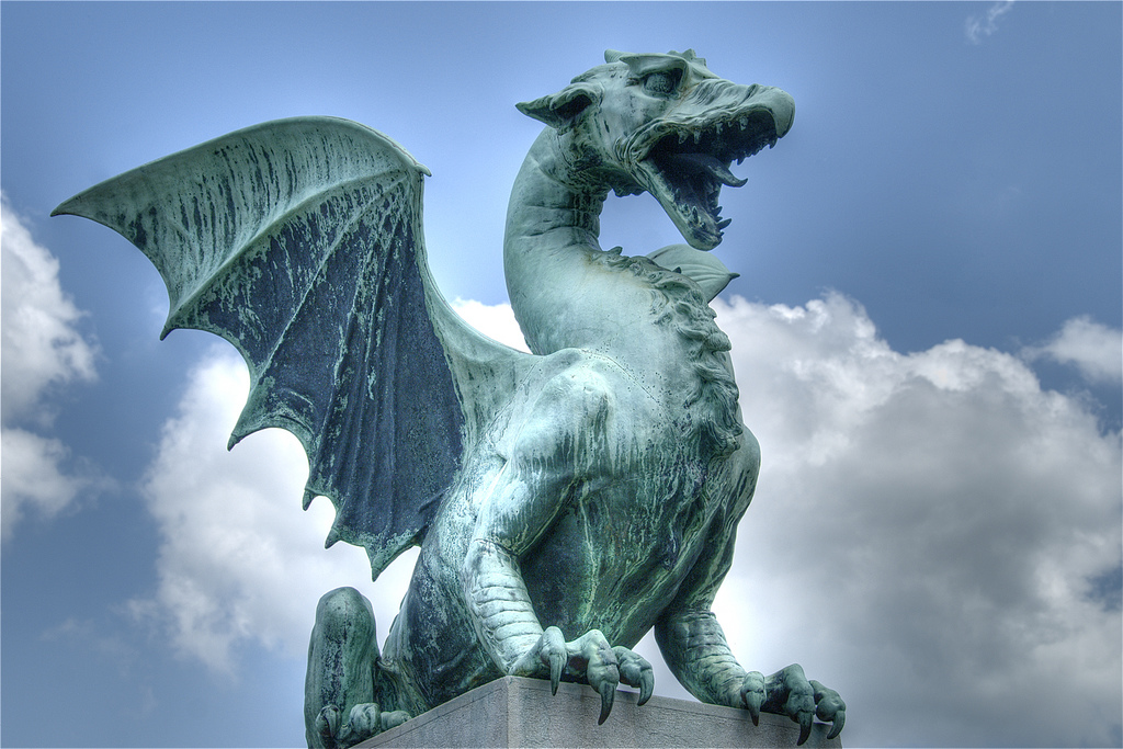 Slovenia Giveaway - Photo fom Ljubljana dragons by Ville Miettinen on Flickr