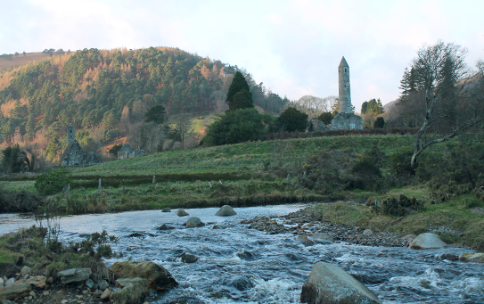 Glendalough view from the lower lake