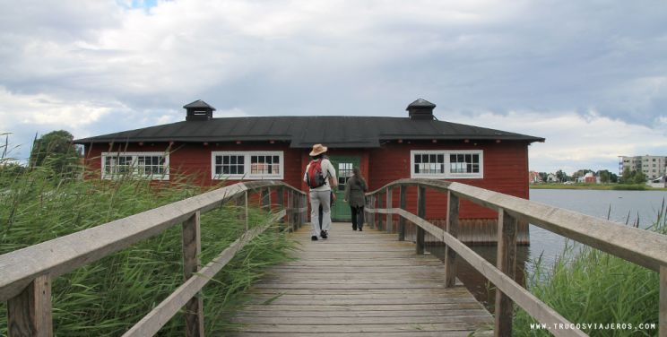 Kalmar traditional washing house Sweden